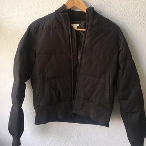 Black Halogen Puffer Bomber Jacket